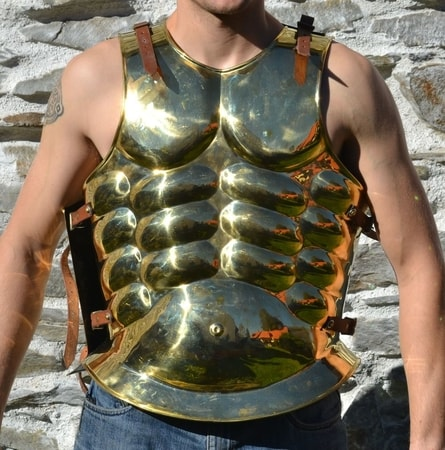 Greek Muscle Cuirass, brass plate