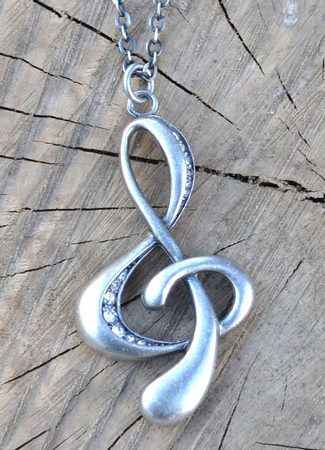 TREBLE CLEF, necklace, bijoux