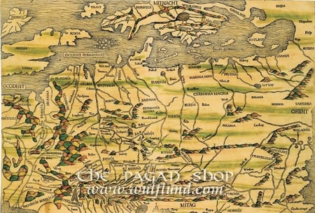THE OLDEST MAP OF EUROPE, historical map, replica