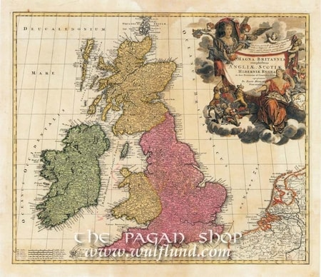 Map Of Ireland And Wales.Scotland Ireland England Wales Historical Map Replica