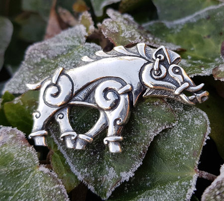 COLLACH - CELTIC BOAR SILVER PENDANT