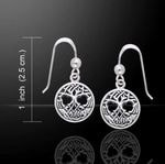 TREE OF LIFE, silver earrings, Ag 925