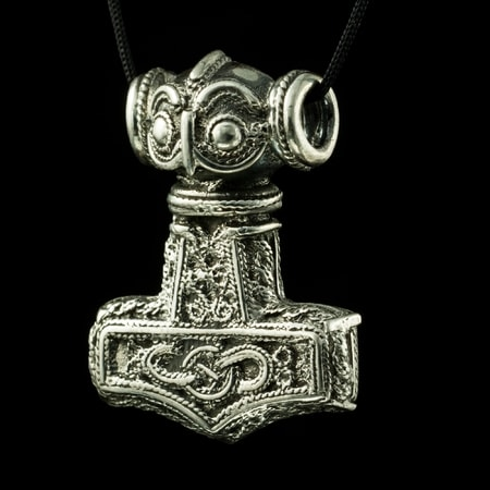 Thor's hammer, Erikstorp, East Gotland, silver replica