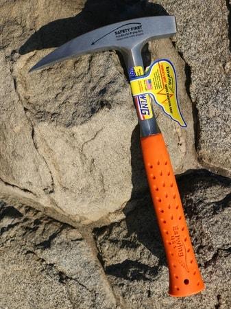 Geology Rock Hammer, Estwing, 900 g - orange - wulflund com