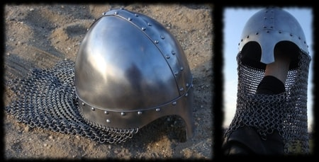 NORMAN HELMET WITH CHAIN MAIL