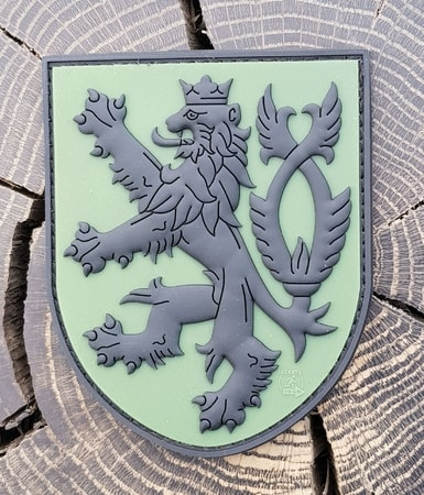 CZECH LION, rubber patch, green
