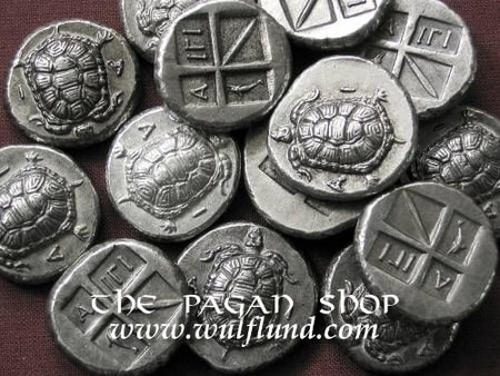 Aigina, Stater, tin coin replica