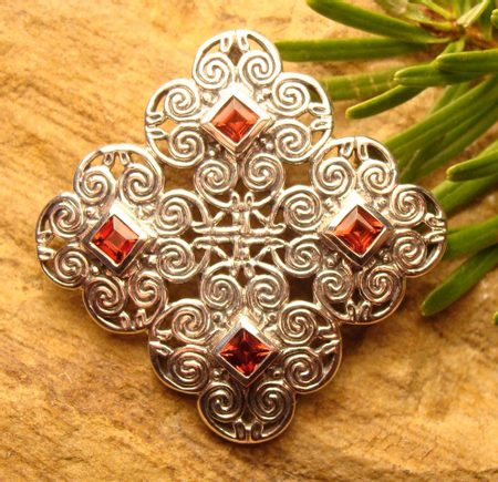 KNOTTED CROSS, Celtic silver pendant