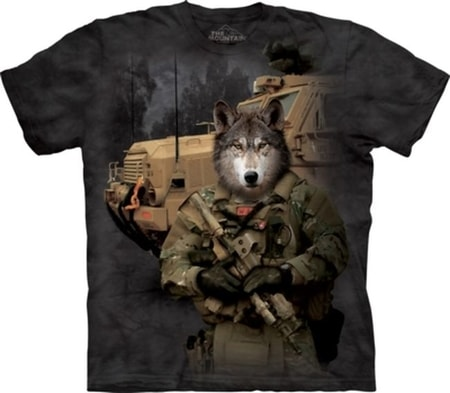 JTAC Lonewolf - Military Wolf T-Shirt The Mountain