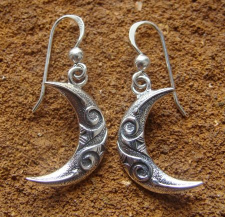 CELTIC MOON EARRINGS - ET-2914