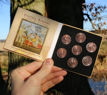 7 DAYS OF PLEASURE erotic coins set - Pompeii