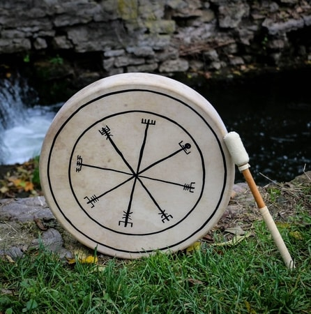 Viking Drum - Vegvisir