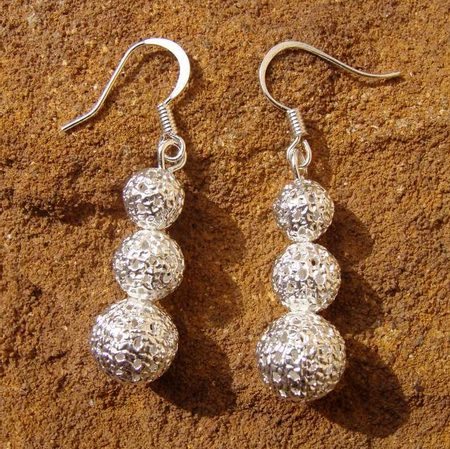 GOMB EARRINGS, silver plated