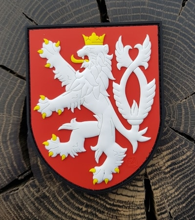 CZECH LION, rubber patch, coloured