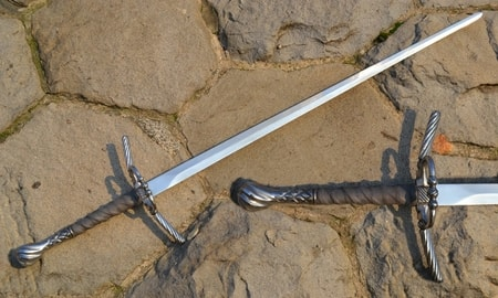 LONG SWORD WITH THE RING GUARD, well decorated