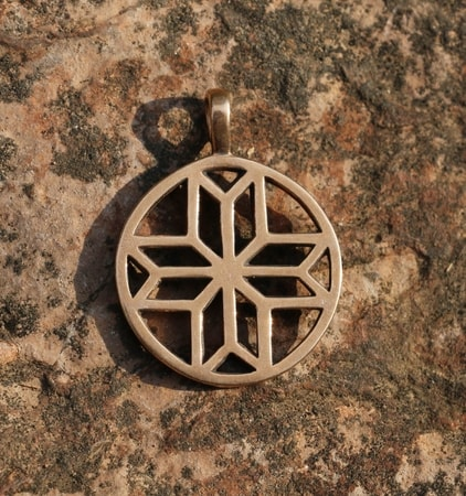 MORNING STAR VENUS II, bronze pendant