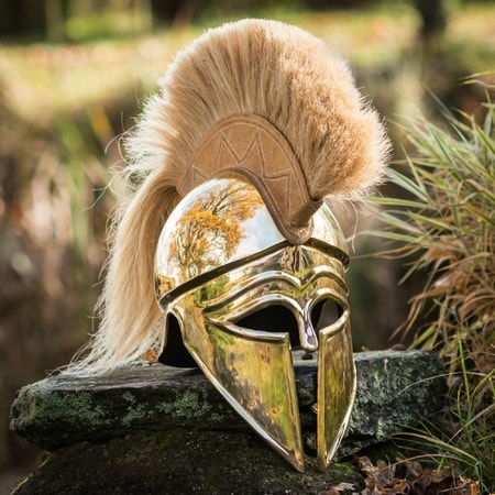 Greek Helmet with Plume
