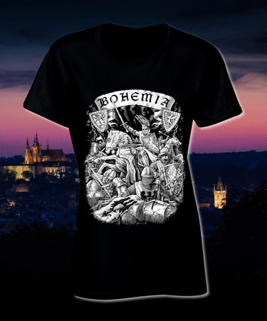 BOHEMIA, King Premysl Otakar II. T-Shirt, black, ladies