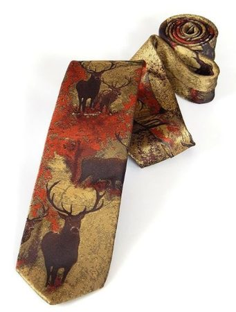 TIE WITH DEER BROWN