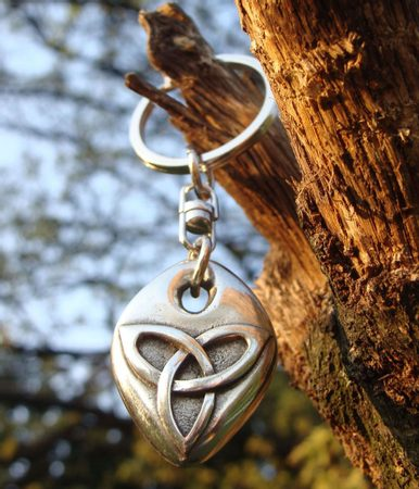 KEYCHAIN with Celtic Triquetra KEY CHAINS