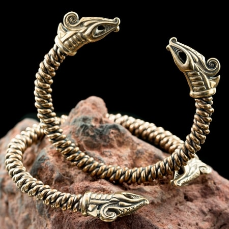 Jelling - Viking Dragon, bronze bracelet