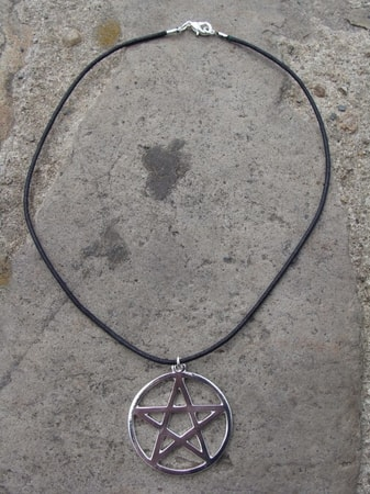 PENTACLE on leather twine