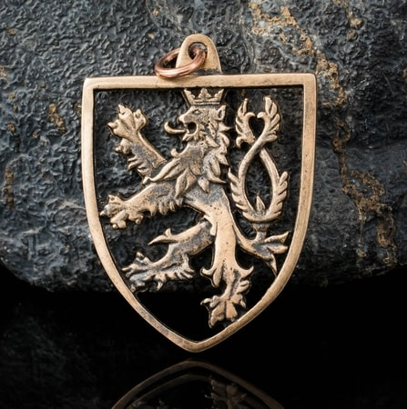 Czech Lion Bohemia Bronze Pendant Wulflund Com
