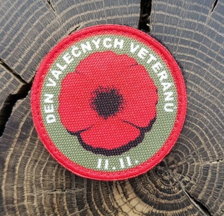 Veteran's Day Poppy, Velcro Patch