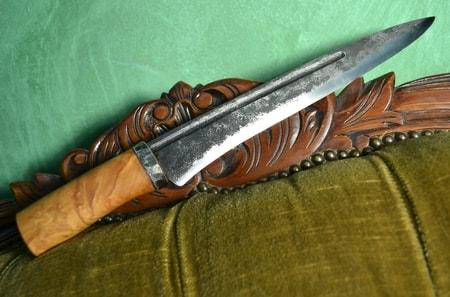 FORGED LONG KNIFE, Finnish birch - wulflund com