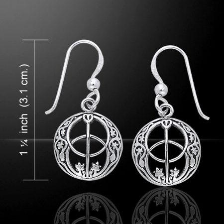CHALICE WELL EARRINGS, silver, Ag 925