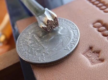 CROWN, leather stamp