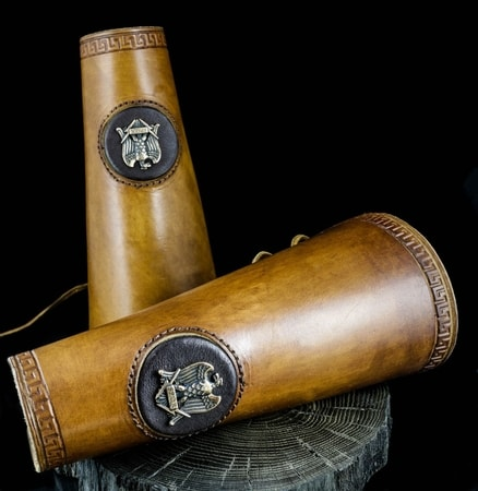 AQUILA - Eagle S.P.Q.R. leather bracers