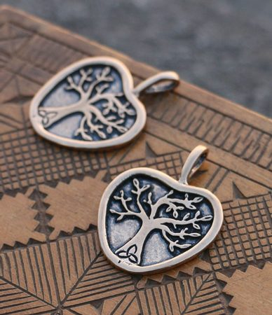APPLE TREE, pendant, bronze