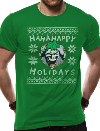 Batman - Ha Ha Happy Holidays, Unisex T-shirt - Green