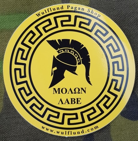 MOLON LABE, Greek Car Sticker