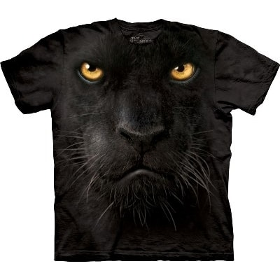 Black Panther Face, The Mountain, T-Shirt