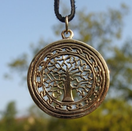 Arbor vitae tree of life leather collection wulflund tree of life bronze pendant aloadofball Gallery