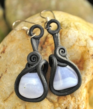 CHALCEDONY - earrings