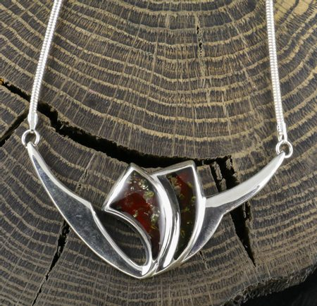 PRUSSIA, amber, necklace, sterling silver