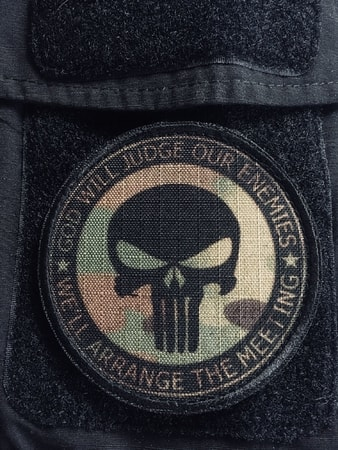 PUNISHER, velcro patch