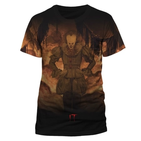 IT  - Flames Sublimated, unisex premium T-shirt