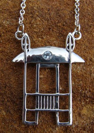 Scottish Silver Necklaces Modern Design Retrofuturistic Industrial