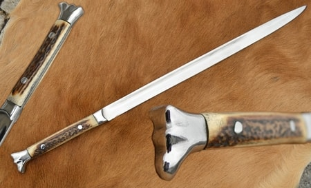 RENAISSANCE DAGGER WITH RING, Wire Handle, Battle Ready
