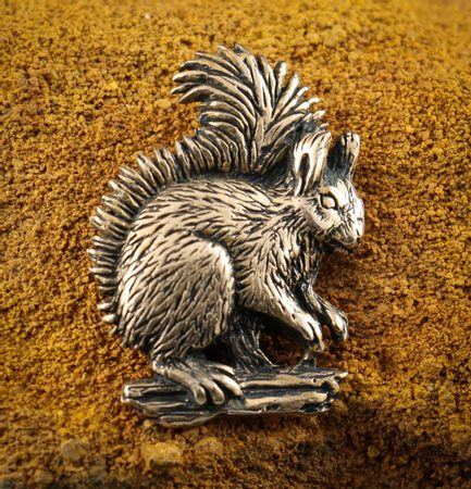 SQUIRREL, pendant, bronze