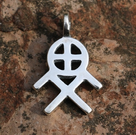 SUN AND HEAVENLY HORSES SYMBOL, silver pendant