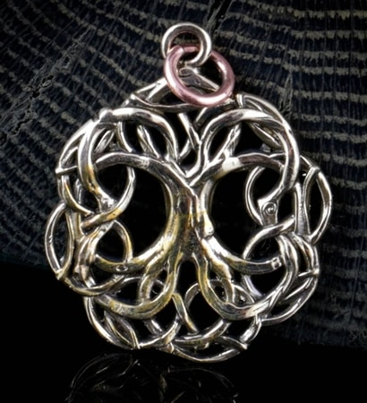 ARBOR VITAE, TREE OF LIFE, PENDANT, BRONZE