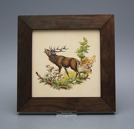 DEER, ceramic picture 20x20cm