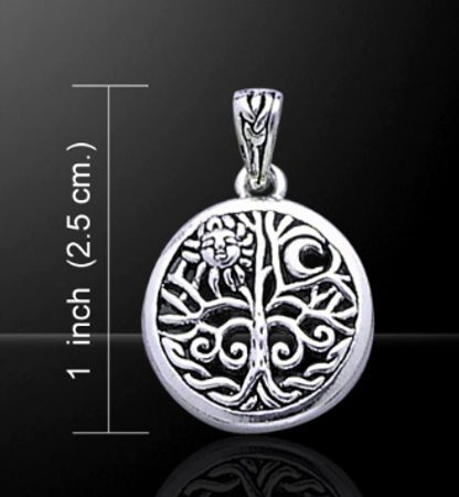 TREE OF LIFE, silver talisman, Ag 925