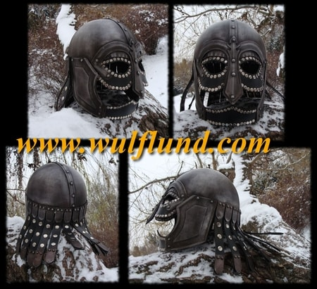 FANTASY VIKING HELMET with leather
