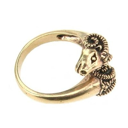 RAM HEADS BRONZE RING